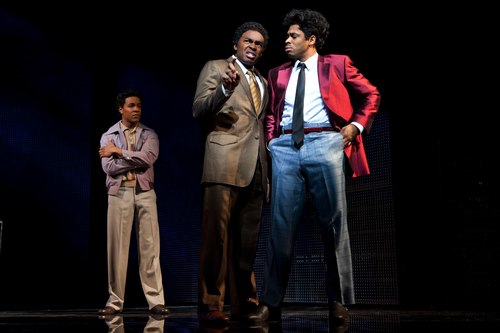 Trevon Davic (C.C.), Chaz Lamar Shepherd (Curtis) and Chester Gregory (James Early)