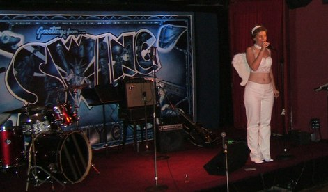 Rebecca Pridmore, the host and organizer of Halloween at Swing 46
