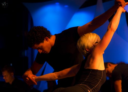 Dance Kaleidoscope performing with Anderson & Roe Piano Duo