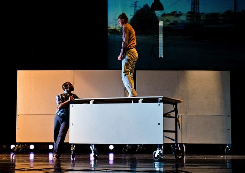 Nathan Trice and Kathryn Baer Schetlick in <i>Bound</i>