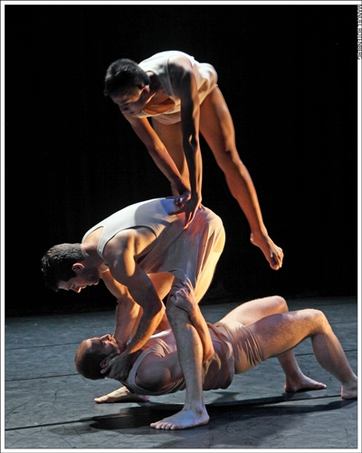 Nicholas Strasburg, David Wornovitzky, and Justin Viernes in Michael Mizerany's 'Desperate Love'
