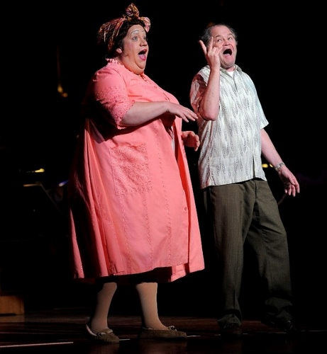 Paul Vogt and Micky Dolenz as Edna and Wilbur Turnblad.