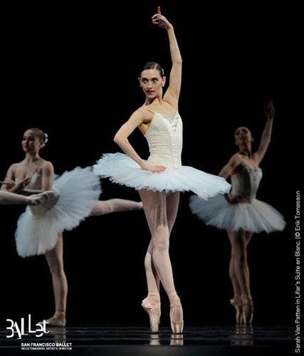 Sarah Van Patten in Serge Lifar's 'Suite en Blanc'.