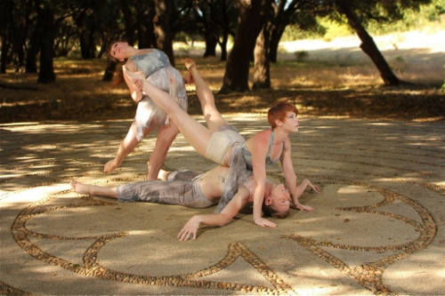Amanda Adams (back), Erin Bond (over man), Evan Swenson