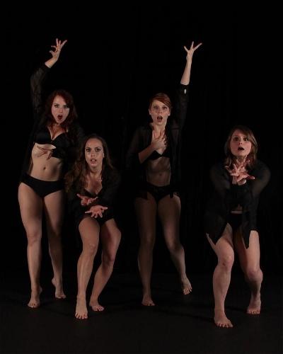 Left to right - Cassandra Richards, Lindsay Marquino, Erin Bond, Amanda Adams from 'Inhale'