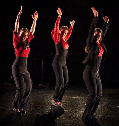 'El Martinete' (trio): L-R: Rebeca Tomás, Laura Castellano, Sol 'la Argentinita.' Photo by Images for Innovation.