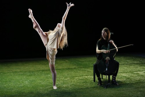 Grass Dancer: Olivia Jordan with Composer/Cellist Julia Kent Choreography by Jennifer Muller