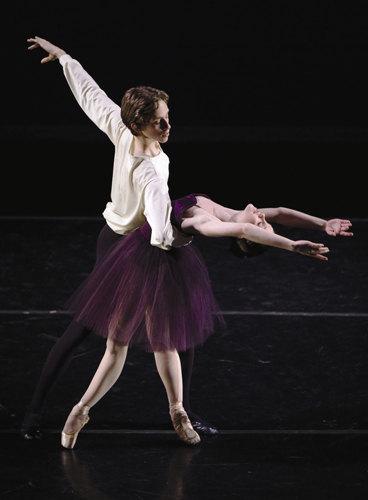 BAE grad Laura Wolfe, currently a dancer with Kansas City Ballet and partner in Brian Reeder's 'Vivaldi Variations'.