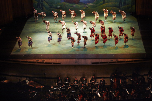 The Joffrey Ballet with The Cleveland Orchestra in 'The Rite of Spring'.