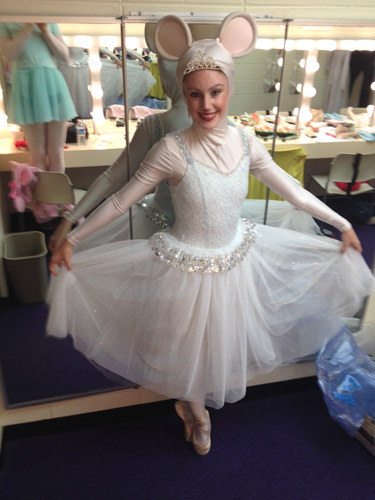 Taylor Gordon as Serena Silvertail in 'Angelina Ballerina The Musical'. Photo courtesy of Taylor Gordon.