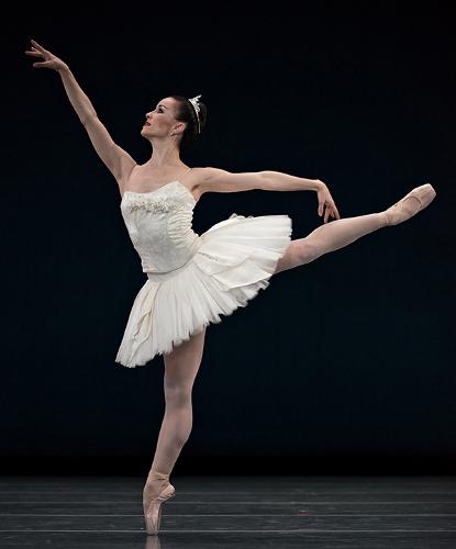 Cincinnati Ballet's Sarah Hairston in Balanchine's 'Symphony in C'.