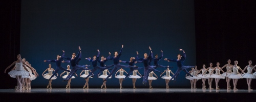 Cincinnati Ballet and BalletMet Columbus dancers in Balanchine's 'Symphony in C'.