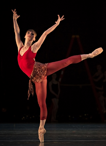 Cincinnati Ballet's Janessa Touchet in Victoria Morgan's 'Bolero'.