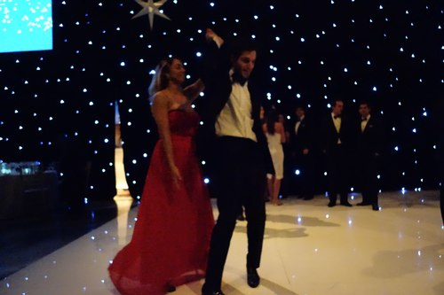 Enthusiastic, talented dancing to the very end of the night.