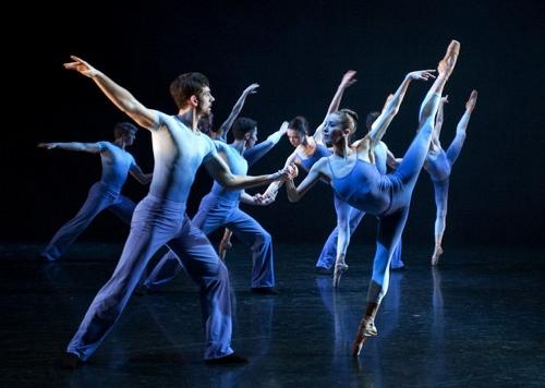 Grand Rapids Ballet dancers in Annabelle Lopez Ochoa's 'Memorias Del Dorado' .