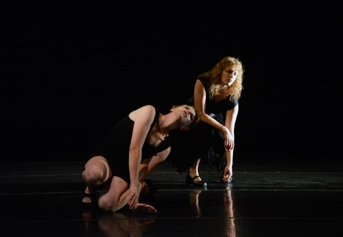 Shen & Bones Performance Group's Laura Swedenborg and Kerrylee Hinkson in 'Sketch #1'. Photo by Amasa Smith.