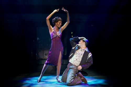 Jasmin Richardson as 'Felicia' and Joey Elrose as 'Huey' in the National Touring Cast of MEMPHIS.
