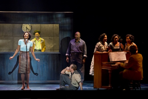 Jasmin Richardson as 'Felicia,' Avionce Hoyles as 'Gator,' Jerrial T. Young as 'Bobby' and Joey Elrose as 'Huey' and the National Touring Cast of MEMPHIS.