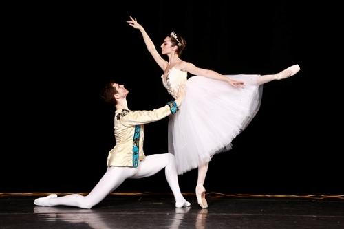 Butler Ballet's Christian Griggs-Drane and Micaelina Ritschl in 'Cinderella'. Photo courtesy of Butler Ballet.
