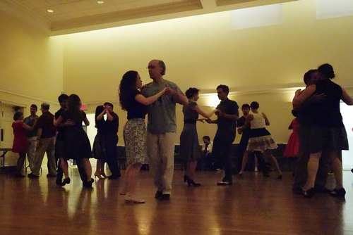Philadelphia Swing Dance Society party - many couples on the dance floor