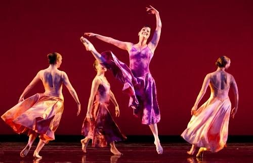 'Georgia O'Keefe: Heart of Joy'. Liberty Harris (center), with Aleksa Lukasiewicz, Caitlin Negron and Emily Dyson