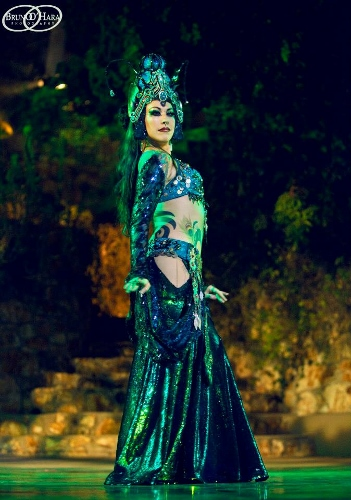 Sharon Kihara as 'The Caterpillar' in Bellydance Evolution's 'Alice in Wonderland'.