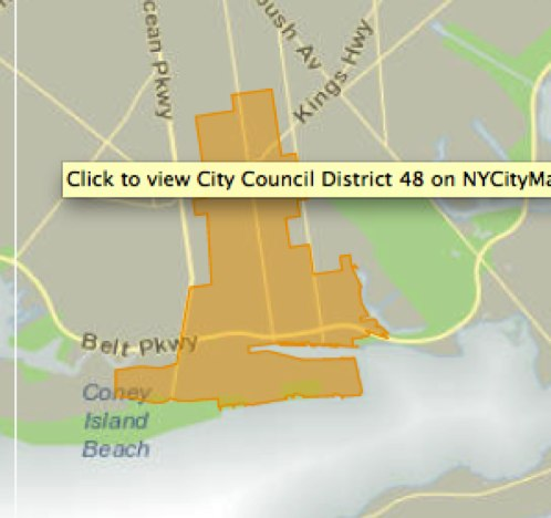 NYC Council District 48 map (Credit: <a href='http://council.nyc.gov/d48/html/members/map.shtml'target='_blank'>http://council.nyc.gov/d48/html/members/map.shtml</a>)
