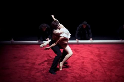 'Subject to Change' by Leon/Lightfoot. NDT2. Dancers Yukino Takaura & Olivier Coeffard.