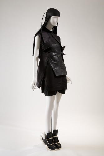 Rick Owens, ensemble, Spring 2014, lent by Rick Owens. Photograph © The Museum at FIT.