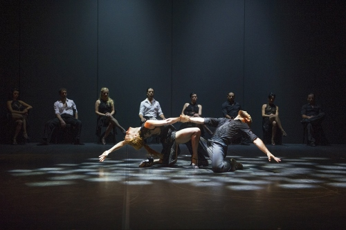A scene from Milonga @ Theatre Jorat, Switzerland. Directed by Sidi Larbi Cherkaoui. Produced by Sadler's Wells.<br>(Opening 23-05-13)<br>©Tristram Kenton 05/13<br>(3 Raveley Street, LONDON NW5 2HX TEL 0207 267 5550 Mob 07973 617 355)email: tristram@tristramkento
