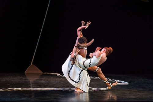 Abdiel Jacobsen and Blakeley White-McGuire in Martha Graham's 'Errand Into the Maze'.