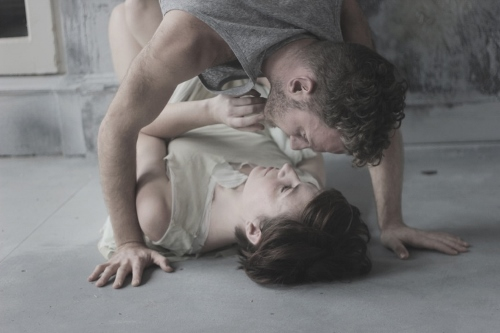 Anthony Nikolchev and Annie Saunders in the London version of The Day Shall Declare It (2014)