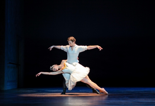 Principal Dancer Zachary Hench and Principal Dancer Lauren Fadeley in Christopher Wheeldon's 'Swan Lake.'