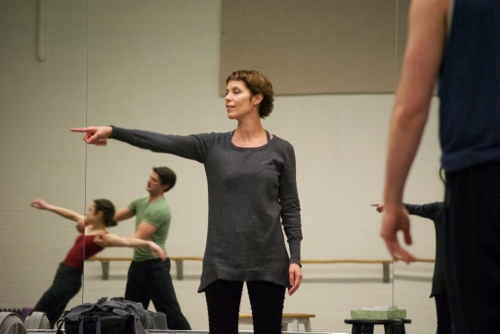 Former American Ballet Theatre prima ballerina Susan Jaffe works with GRB dancers on her ballet 'Weather One.'