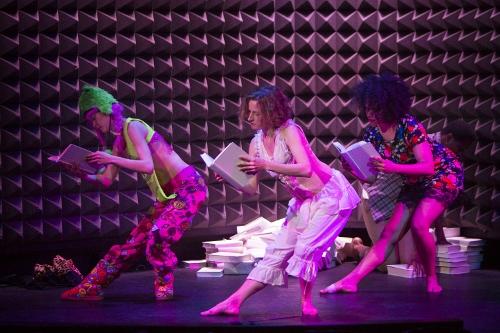 Pictured L-R: Mei Yamanaka, Abigail Levine, Leslie Cuyjet in Mark Dendy's 'NewYorknewyork @Astor Place.'