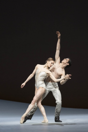 The Royal Ballet in Christopher Wheeldon's 'Aeternum Pas de Deux.'