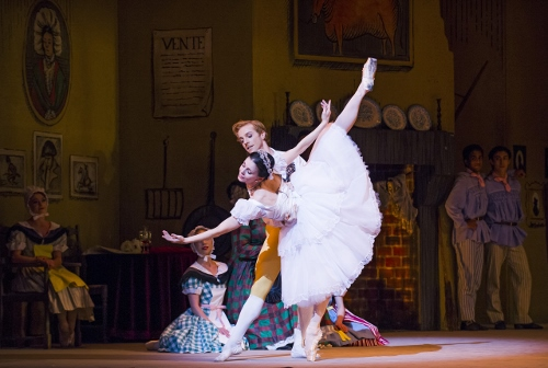 The Royal Ballet's Natalia Osipova as Lise and Steven McRae as Colas in a scene from Frederick Ashton's 'La Fille mal gardée.'