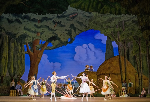 The Royal Ballet in a scene from Frederick Ashton's 'La Fille mal gardée.'