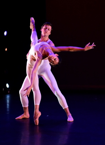 Ballet/NY's Xiaoxiao Cao and Jesse Campbell in Medhi Bahiri's 'What Ever.'