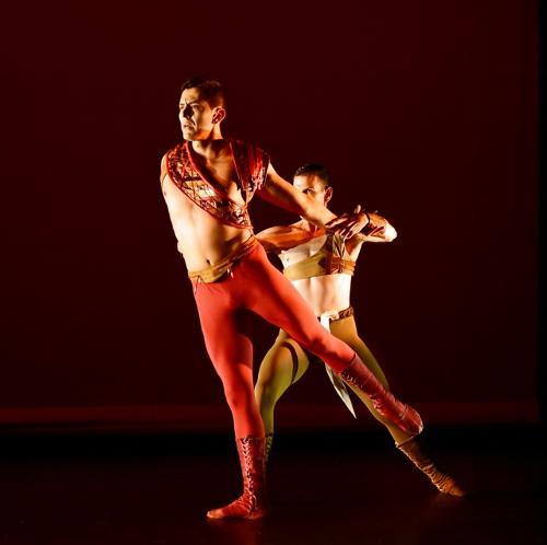 Ballet/NY's Giovanni Ravelo and Brent Whitney in John Butler's 'Othello.'