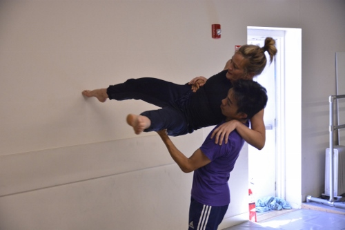 Lauren Garson and Michael Marquez in David Shimotakahara's 'Boom Boom.' Photo courtesy of GroundWorks DanceTheater.