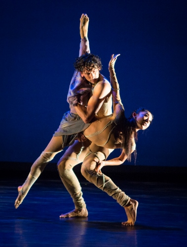 """Dancers So Young An and Juan Rodriguez in Jacqulyn Buglisi's 'Sacred Landscapes, Episode One."""""""