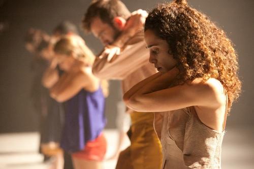 Vertigo Dance Company dancers in Noa Wertheim's 'Reshimo.'