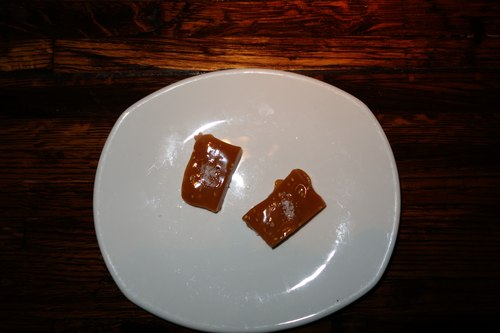 Sesame Caramels for dessert at Linger