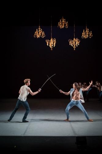 [L-R]Grand Rapids Ballet dancers Nicholas Schultz and Isaac Aoki in Annabelle Lopez Ochoa's 'Dangerous Liaisons.'