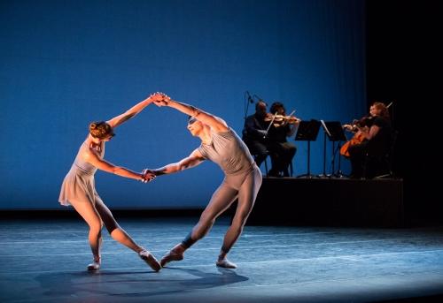 Pennsylvania Ballet Principal Dancer Lauren Fadeley and Corps de Ballet Member Craig Wasserman in Justin Peck's 'Chutes and Ladders.'