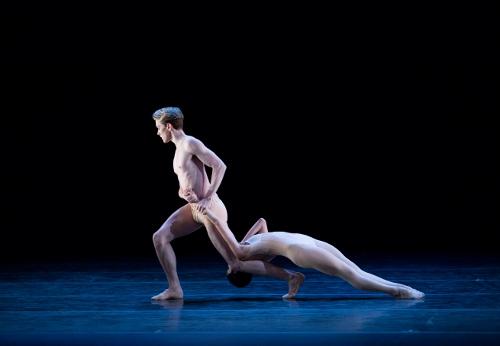 Pennsylvania Ballet Soloist Mayara Pineiro and Corps de Ballet Member Harrison Monaco in Nacho Duato's 'Without Words.'