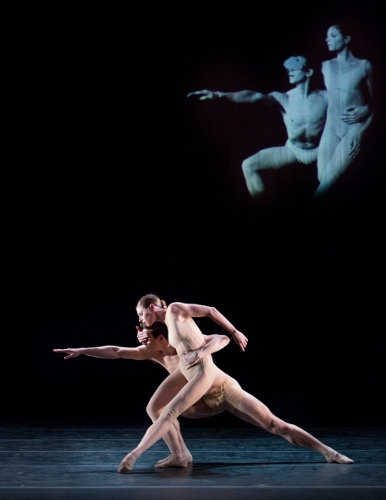 Pennsylvania Ballet Principal Dancer Lauren Fadeley and Corps de Ballet Member Lorin Mathis in Nacho Duato's 'Without Words.'
