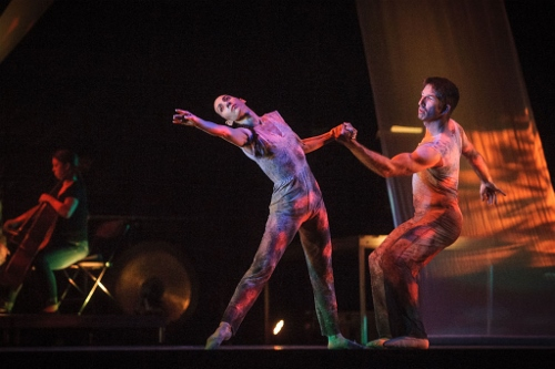 From 2014, GroundWorks' Felise Bagley and Damien Highfield in David Shimotakahara's 'Ghost Opera.'