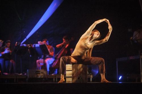 From 2014, GroundWorks' Annika Sheaff in David Shimotakahara's 'Ghost Opera.'